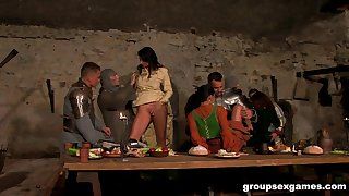 Janet Joy and Lara Stevens have their holes plunged in an orgy
