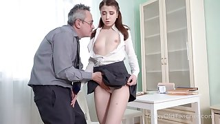 Hot coed needs some home tutoring and she wants anent fuck her unsympathetic teacher