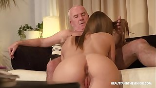 Old farmer gets torrid and fucks his hot niece