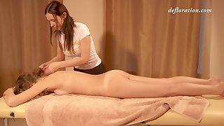 Nice erotic massage close to lots of oil is what sexy Elena Seregyna needs